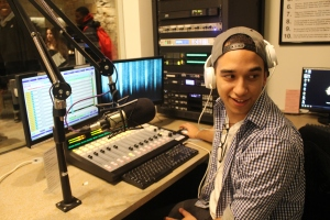 Jordy Zawadski became the new station manager of Lasell College Radio at the end of last semester. He plans to bring more exposure to the club while in charge. (Photo by Krista DeJulio)