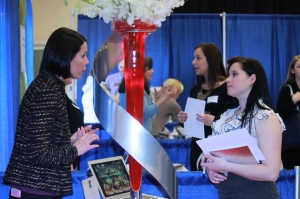 Students attend booths during the networking fair to learn about available opportunities. (Photo by Allison Nekola)