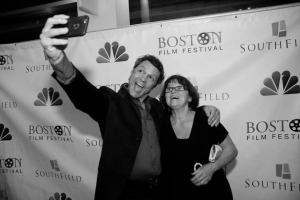 "Anthony Molinari, a star of ""Papa,"" takes a selfie at Bob Yari's premiere at AMC Loews Bos-ton on Thursday, September 17 as part of the 31st Annual Boston Film Festival. Photo courtesy The Boston Globe"