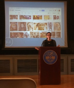 Photo by Kayli Hertel Dr. Adrienne Keene reflects on Native Americans in pop culture.