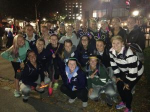Photo courtesy of Courtney Braman  The field hockey team participated in the annual Light the Night Walk in Boston Common. This was the team's second time walking to help fund leukemia and lymphoma treatment.