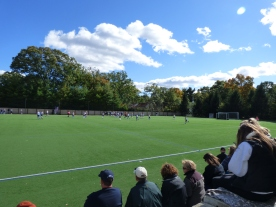 Students and parents take in a Lasers field hockey game on a nice Fall weekend. Photo by Ryan Fitzgerald.