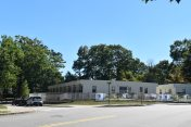 A far shot of the modular classrooms on Grove Street. Photo by Jackie Colombie.