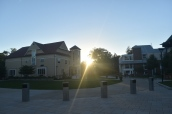 The sun peaks through the Arnow Courtyard during the first week of classes. Photo by Jackie Colombie.