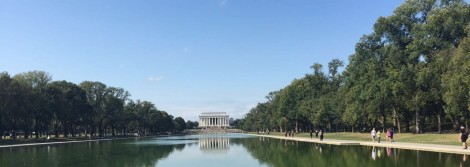 The reflective pool and Lincoln Memorial from afar. Photo by Tyler Hurst