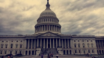 Capitol Hill stands tall on a cloudy day. Photo by Kaley Chamberlain