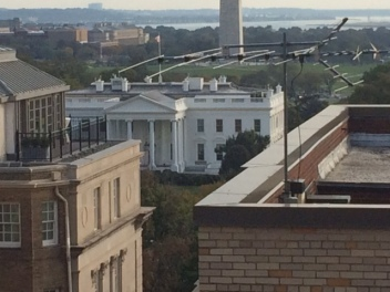 The White House seen from the rooftop of Mobile Video services. Photo by Marie Franklin
