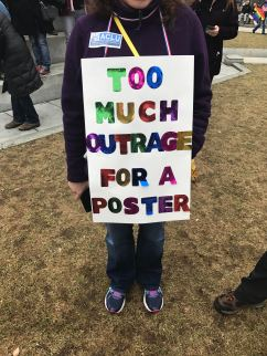 This protester had too much anger to express on a poster. (Photo by Morgan Vanwickler))