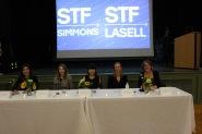 Eva Millona, Dana Janbek, Shirley Fan-Chan, Karin Raye and Molly Sullivan Sliney (L-R) pictured during the gala.