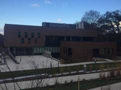 The exterior of the Science and Technology Center