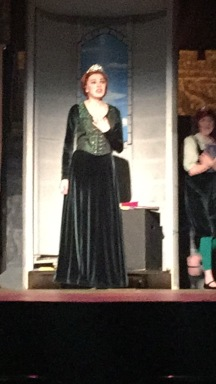 Sarah Gelineau as Princess Fioana sings her character's opening song.