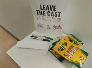 Attendees were able to leave notes for any cast member performing in the production.