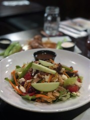 Brewers Coalition's roasted chicken and apple salad ($13.95). Photo by Megan Palumbo