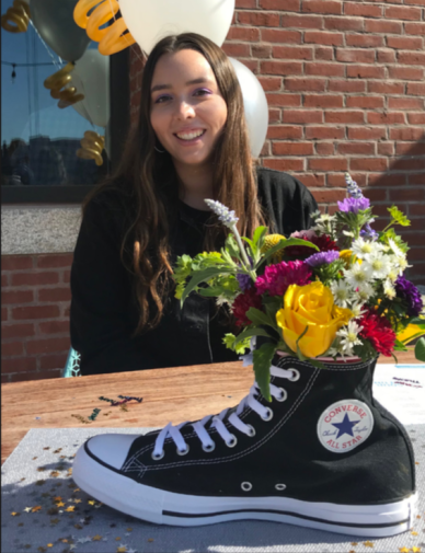 Photo Courtesy of Chloe Boyce. Chloe Boyce prepares for her post-graduation journey at Converse.